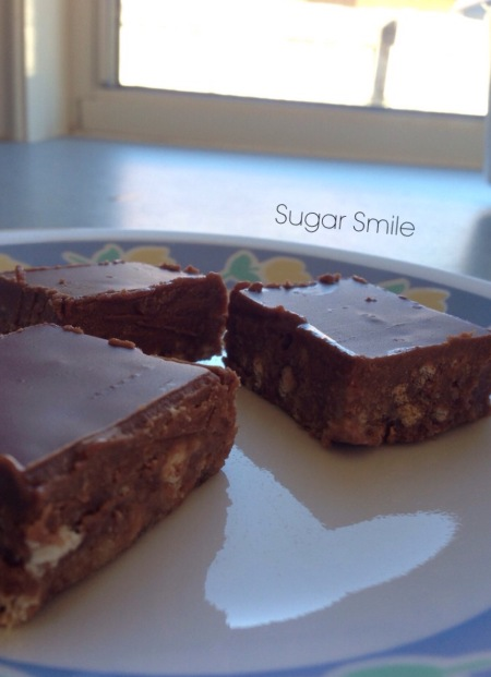 Chocolate coconut slice