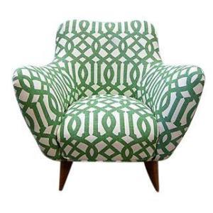 Linen Mid-Century Modern Chair